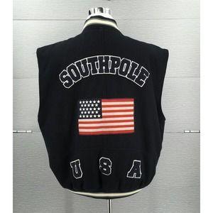 VTG SouthPole Varsity Vest Letterman USA Flag